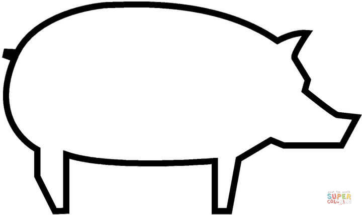 free printable pig template pig template animal templates free premium templates printable free template pig 1 1