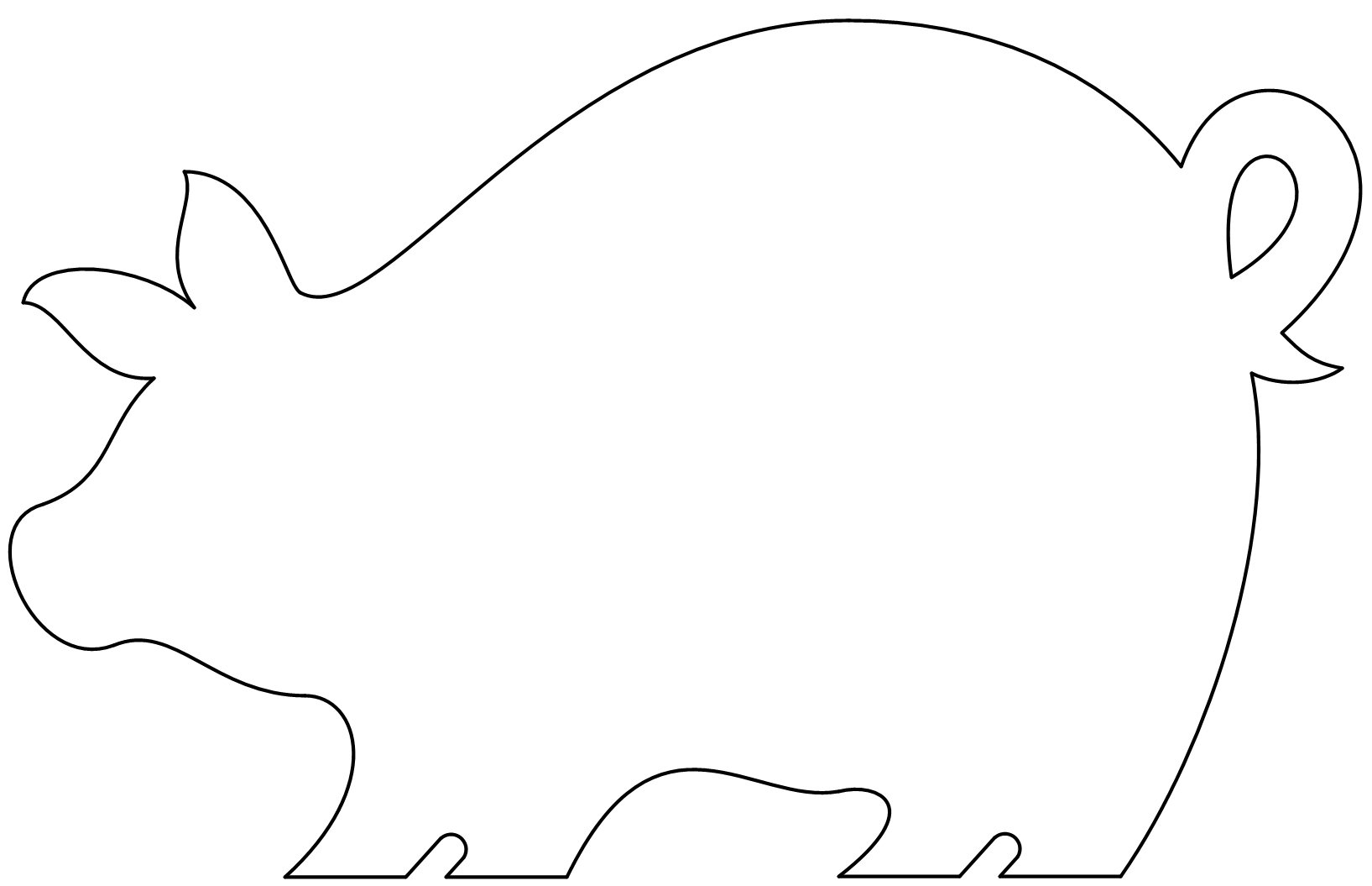 free printable pig template pig template animal templates free premium templates printable pig template free