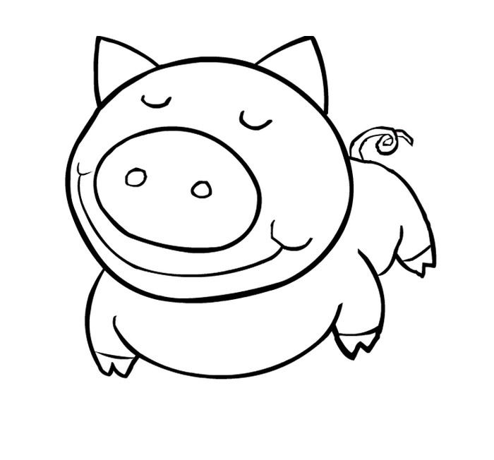 free printable pig template puzzle template 6 pieces clipart best pig free printable template