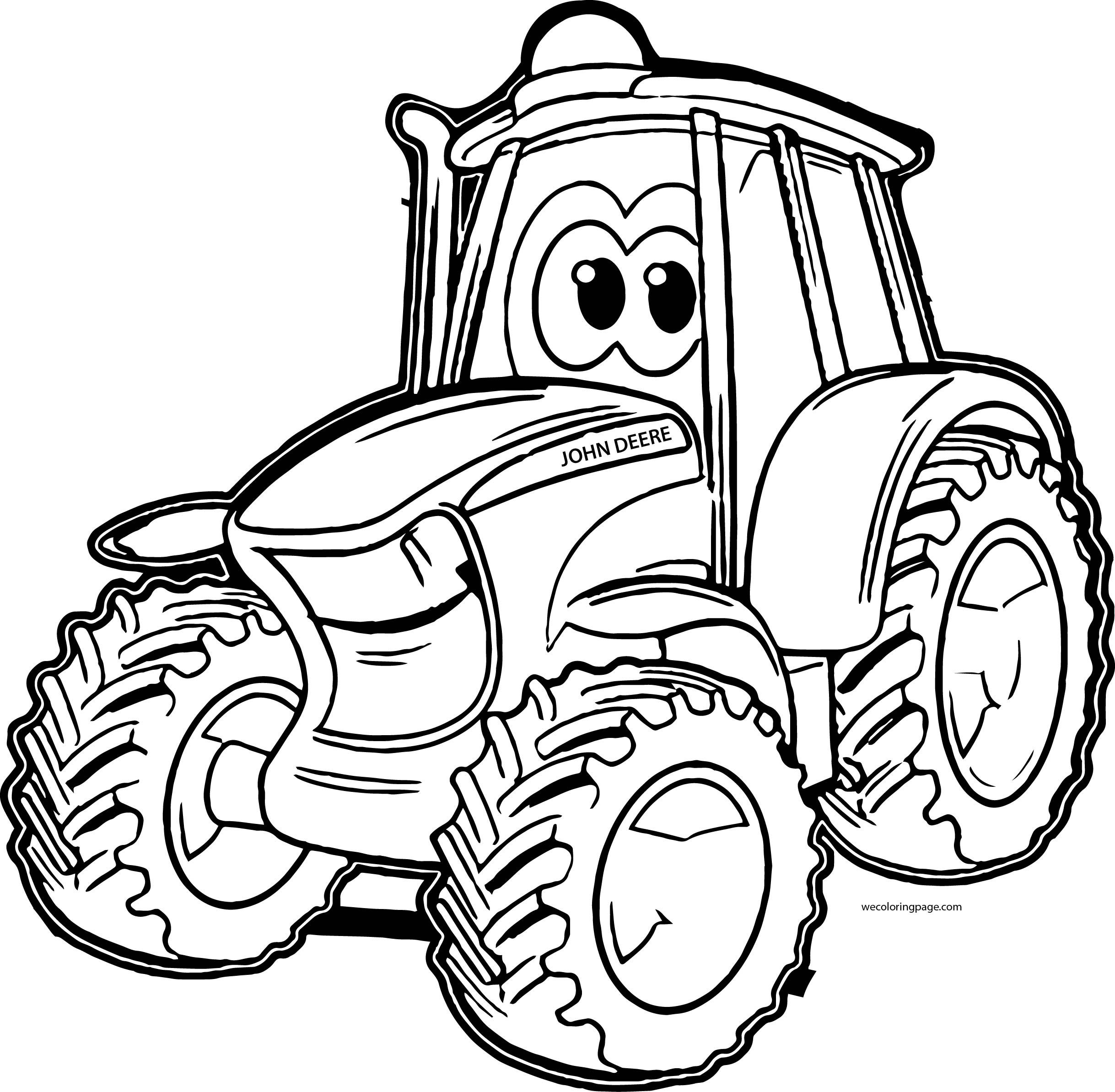 Free printable tractor coloring pages