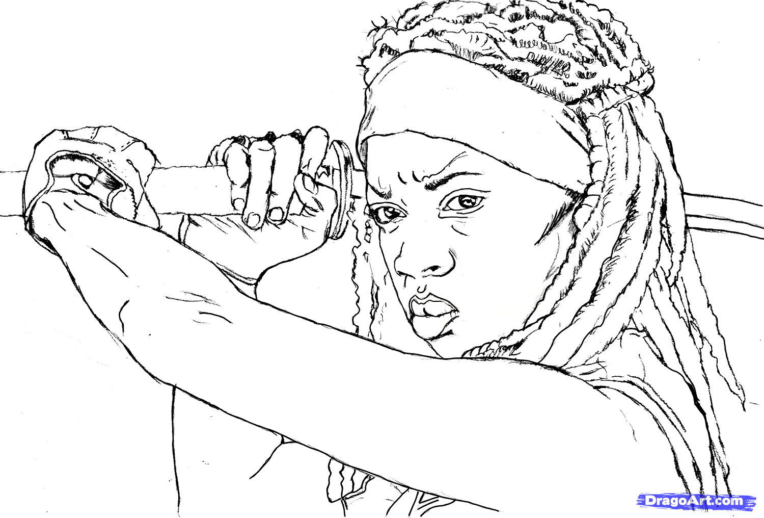 Free walking dead coloring pages