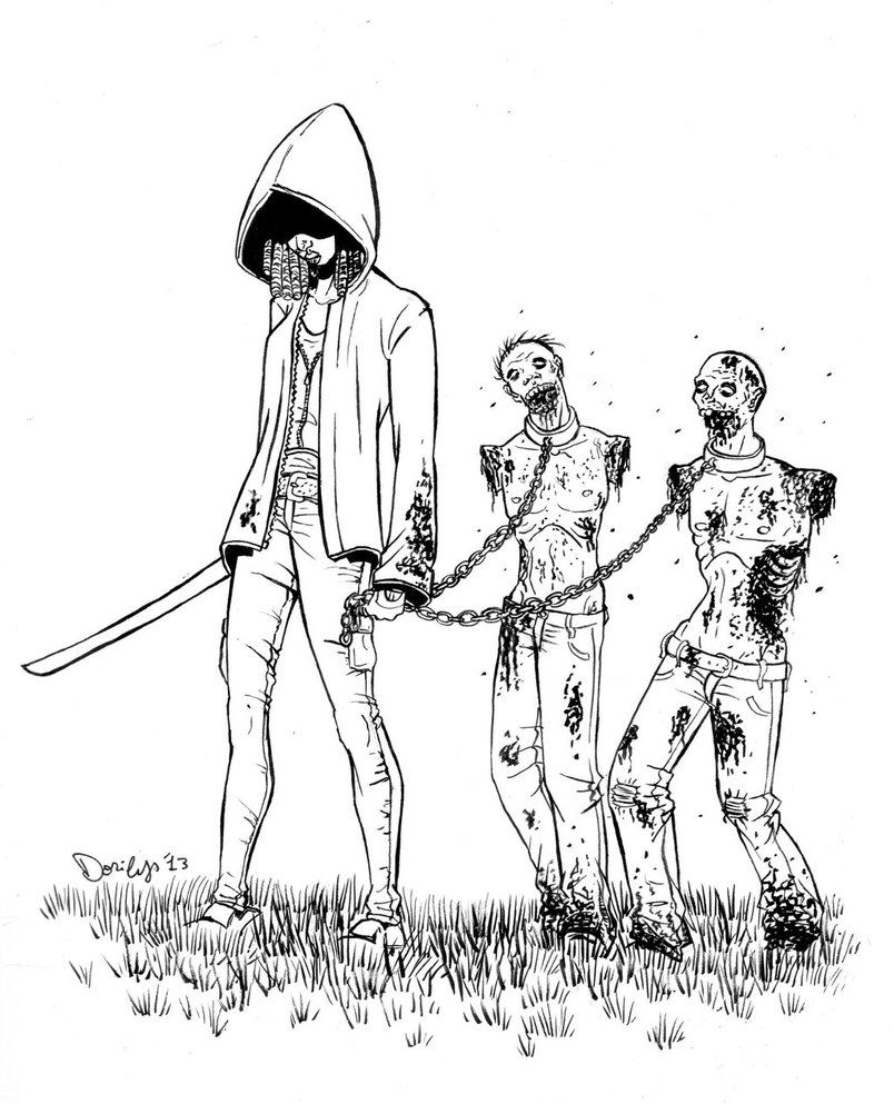 free walking dead coloring pages walking dead coloring pages michonne line art by lcbrown pages dead walking free coloring