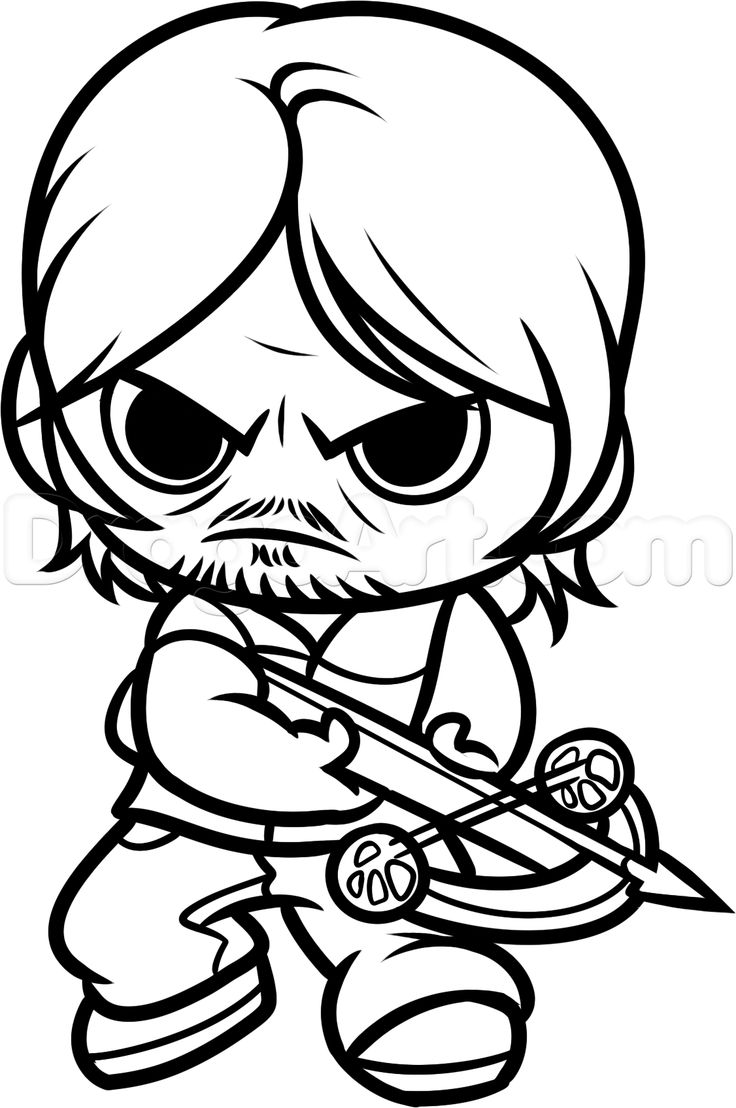 free walking dead coloring pages walking dead daryl coloring pages google search chibi dead free pages walking coloring