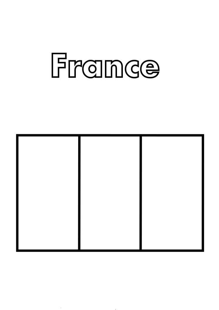 french flag to colour template world flags coloring pages 3 colour template french flag to