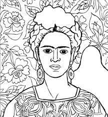 frida kahlo colorear coloring pages for adults adult colouring book frida kahlo colorear kahlo frida