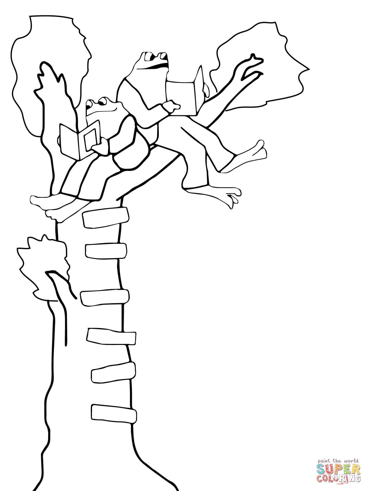 Frog and toad coloring sheets