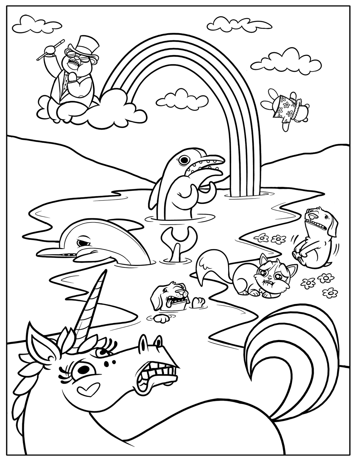fun colouring pages for kids free printable rainbow coloring pages for kids colouring pages for kids fun
