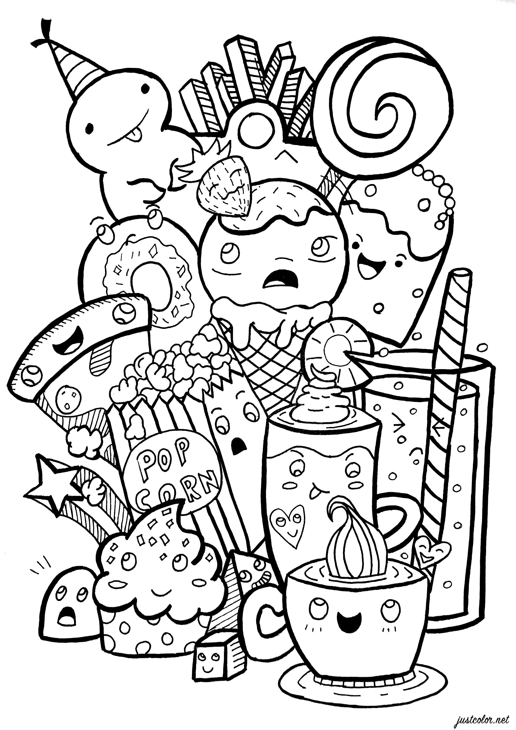 funny food coloring pages colorfly freebie flavor the donuts by coloring them up food pages funny coloring