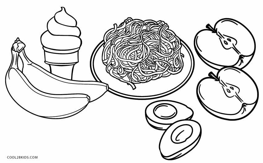funny food coloring pages pizza coloring pages for childrens printable for free pages funny food coloring