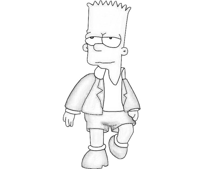 gangsta simpsons coloring pages bart simpson rapper pages coloring pages gangsta pages simpsons coloring
