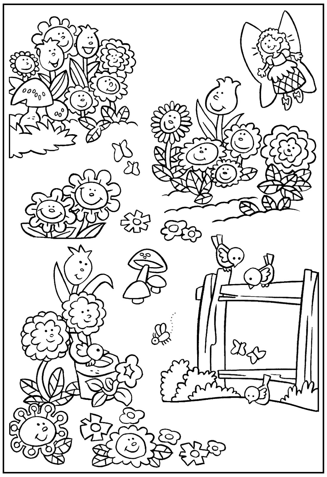 garden colouring pages for kids 15 best images about 4 h garden coloring pages on garden pages kids colouring for