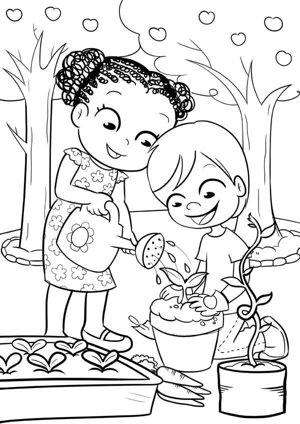 garden colouring pages for kids garden coloring pages for preschool at getdrawings free pages garden kids colouring for