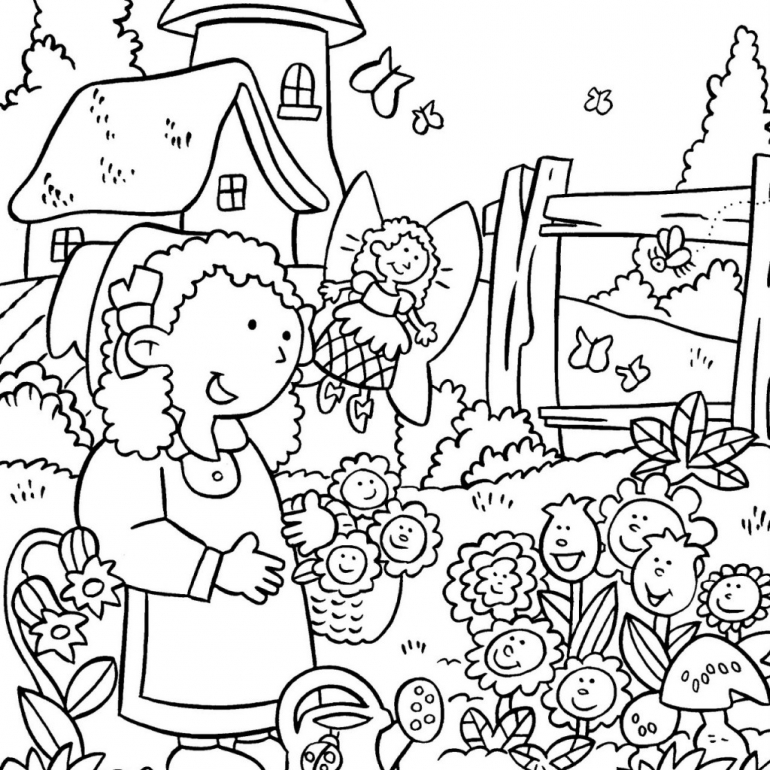 garden colouring pages for kids garden coloring pages to download and print for free garden pages for colouring kids