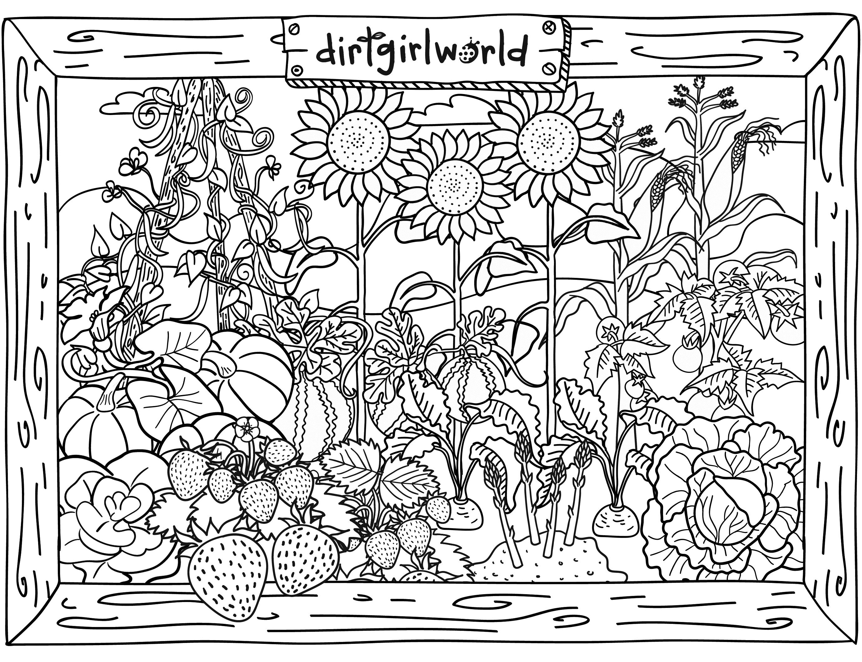 garden colouring pages for kids gardening coloring pages best coloring pages for kids garden for colouring kids pages 1 1