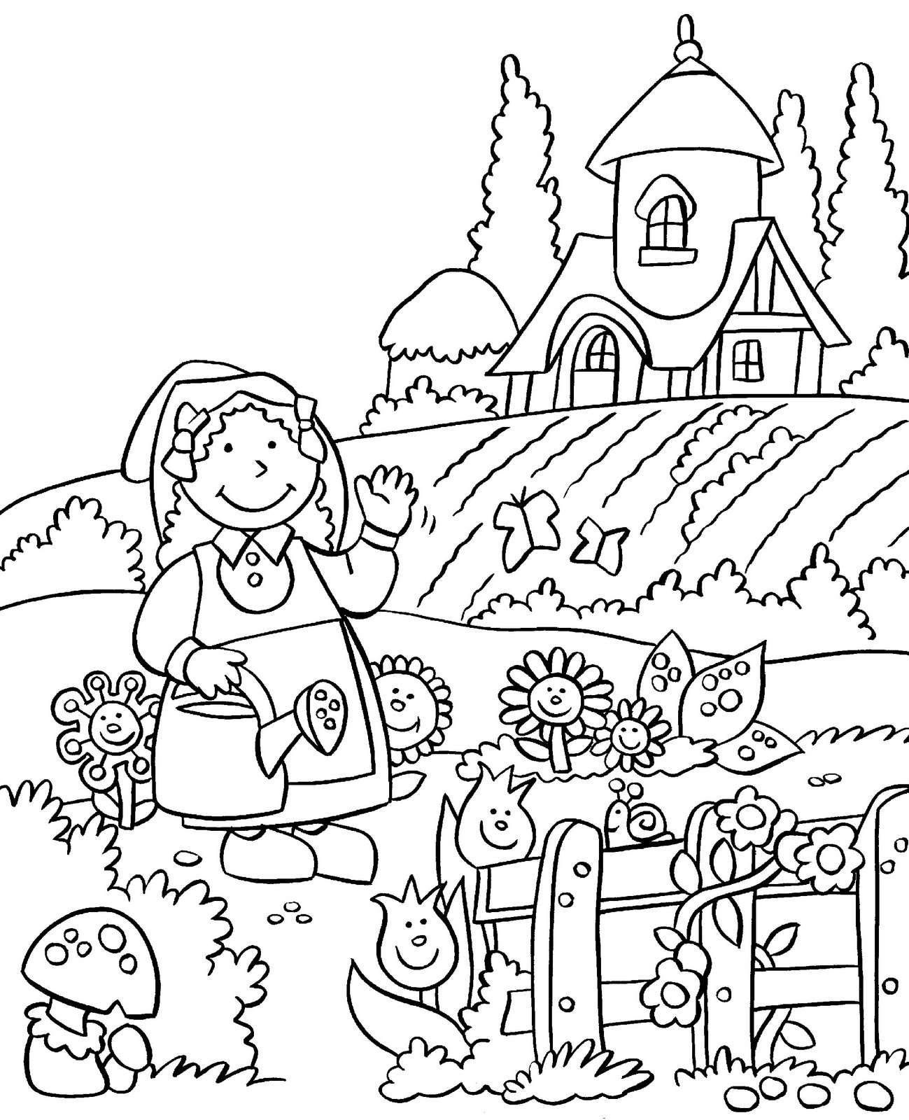 garden colouring pages for kids kids gardening coloring pages free colouring pictures to garden for pages colouring kids