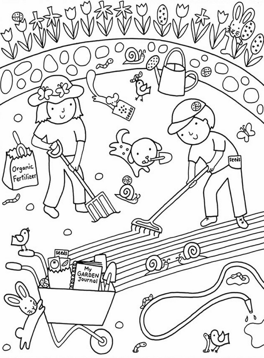 garden colouring pages for kids let gardening gardening coloring pages colouring garden for kids pages