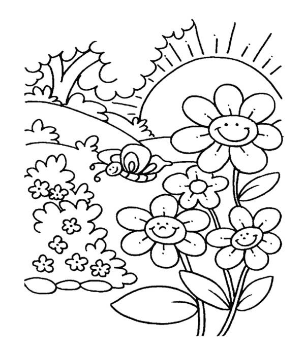 garden colouring pages for kids printable gnome watering for plants coloring page for both pages colouring garden for kids