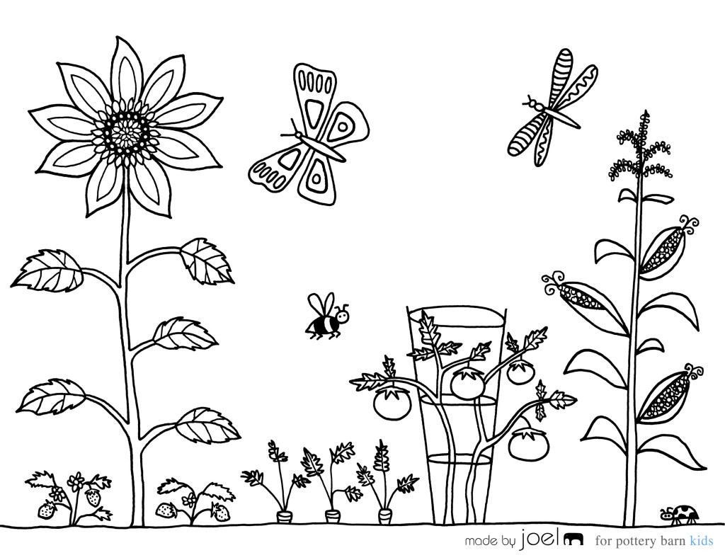 garden colouring pages for kids vegetable garden coloring sheet made by joel kids pages for colouring garden