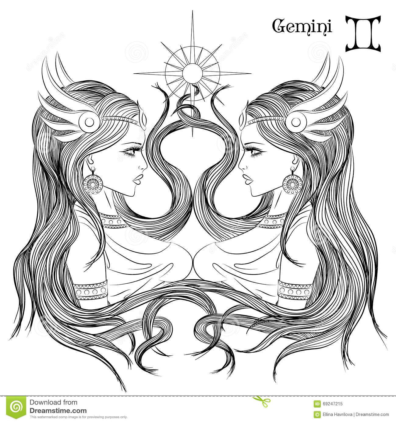 gemini zodiac coloring pages image result for free adult colouringpeople coloring zodiac coloring pages gemini