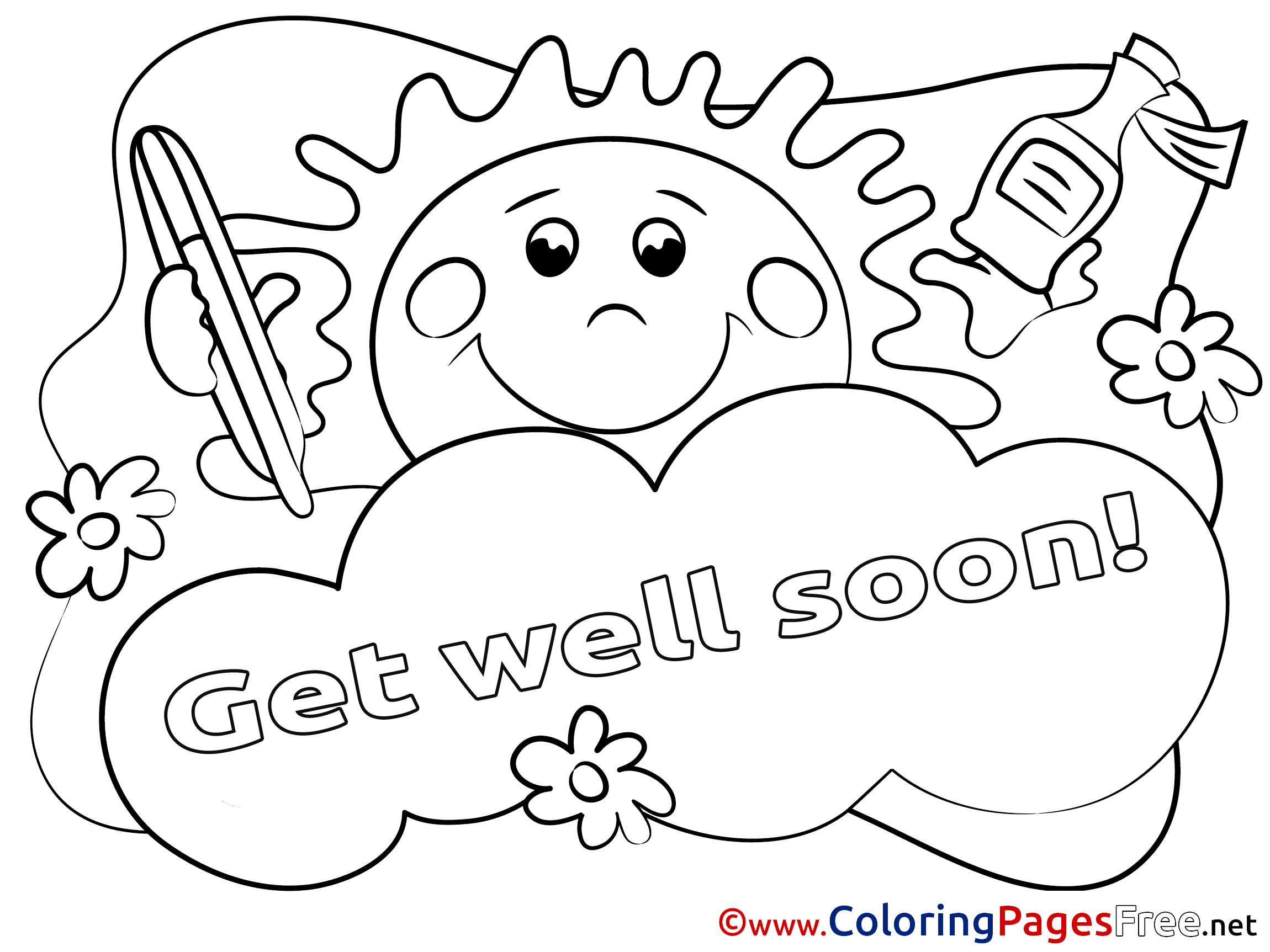get well soon coloring pages to print 20 free get well soon coloring pages printable scribblefun coloring well get to print pages soon