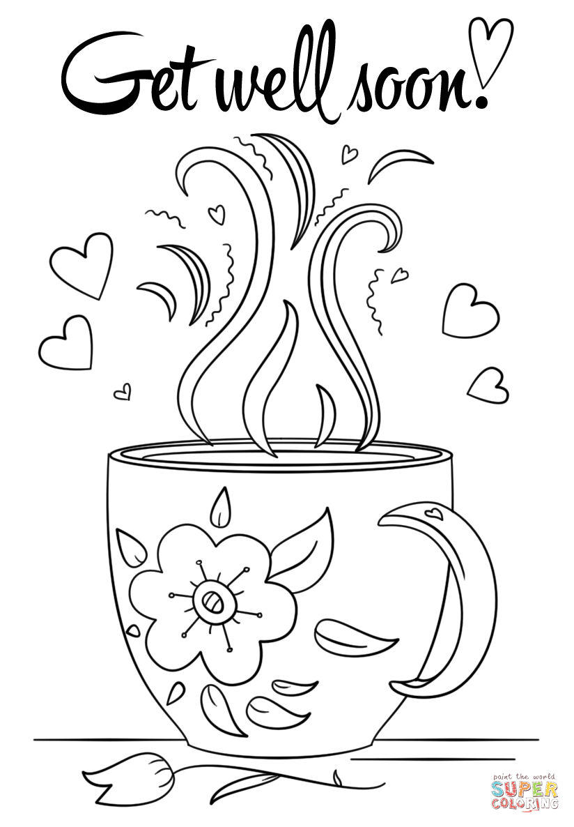 get well soon coloring pages to print get well soon coloring page free printable coloring pages coloring print pages to well soon get
