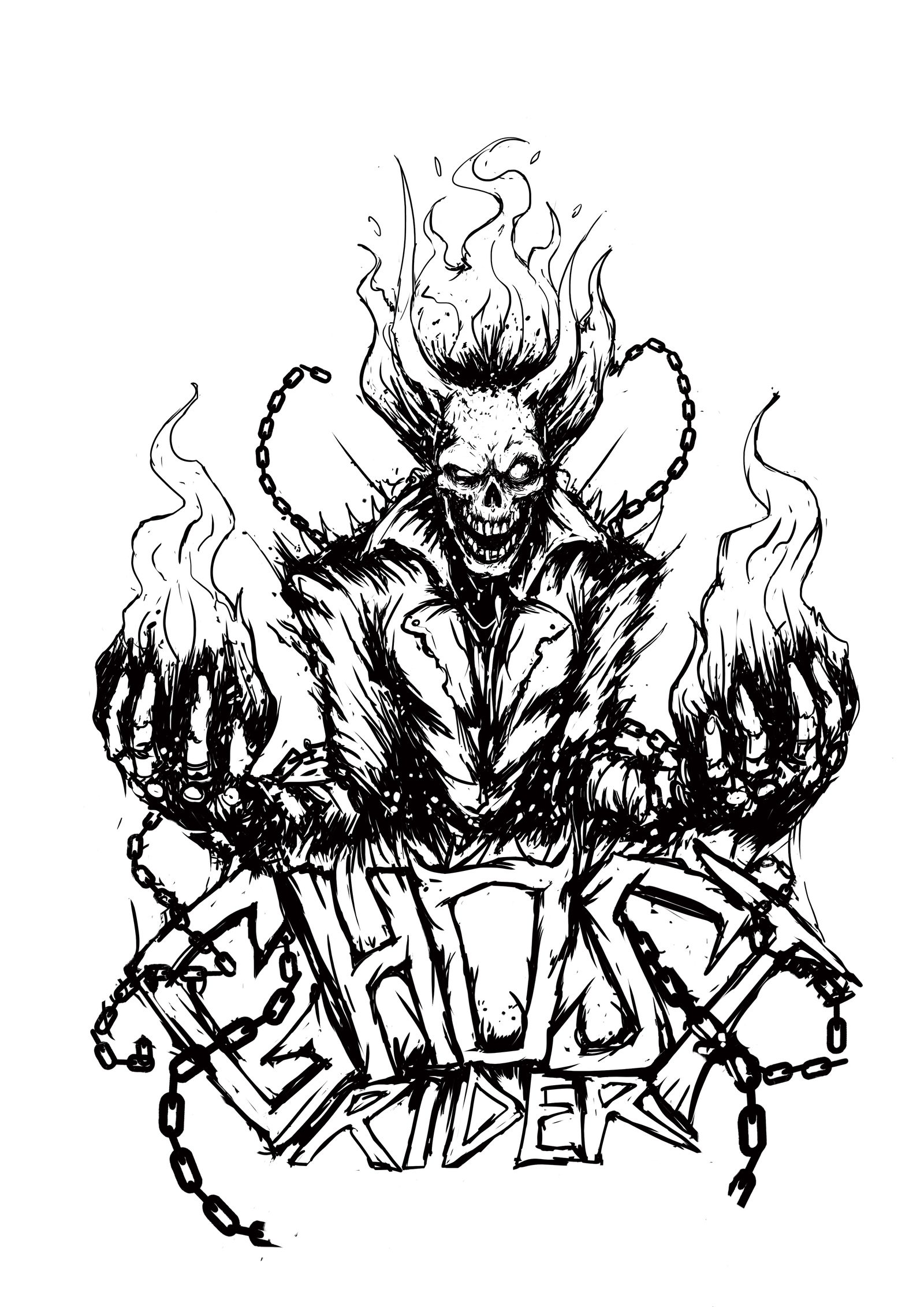 ghost rider coloring sheets ghost rider coloring page coloring home rider coloring ghost sheets