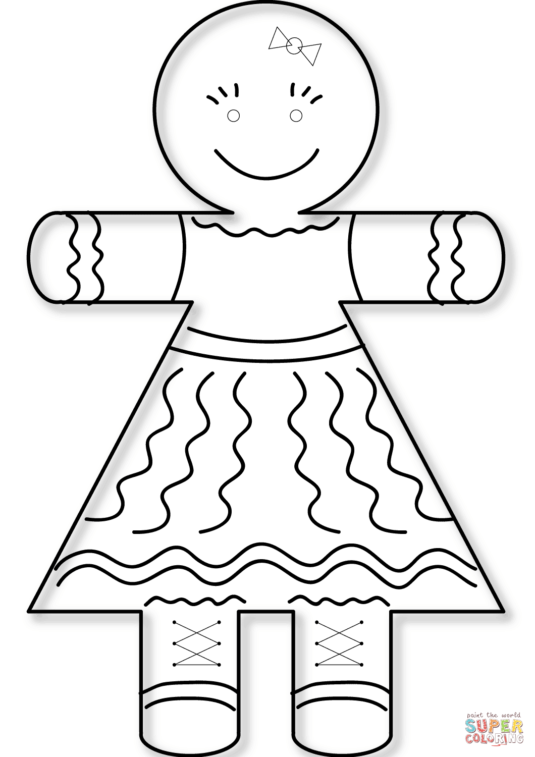 Gingerbread girl coloring sheet