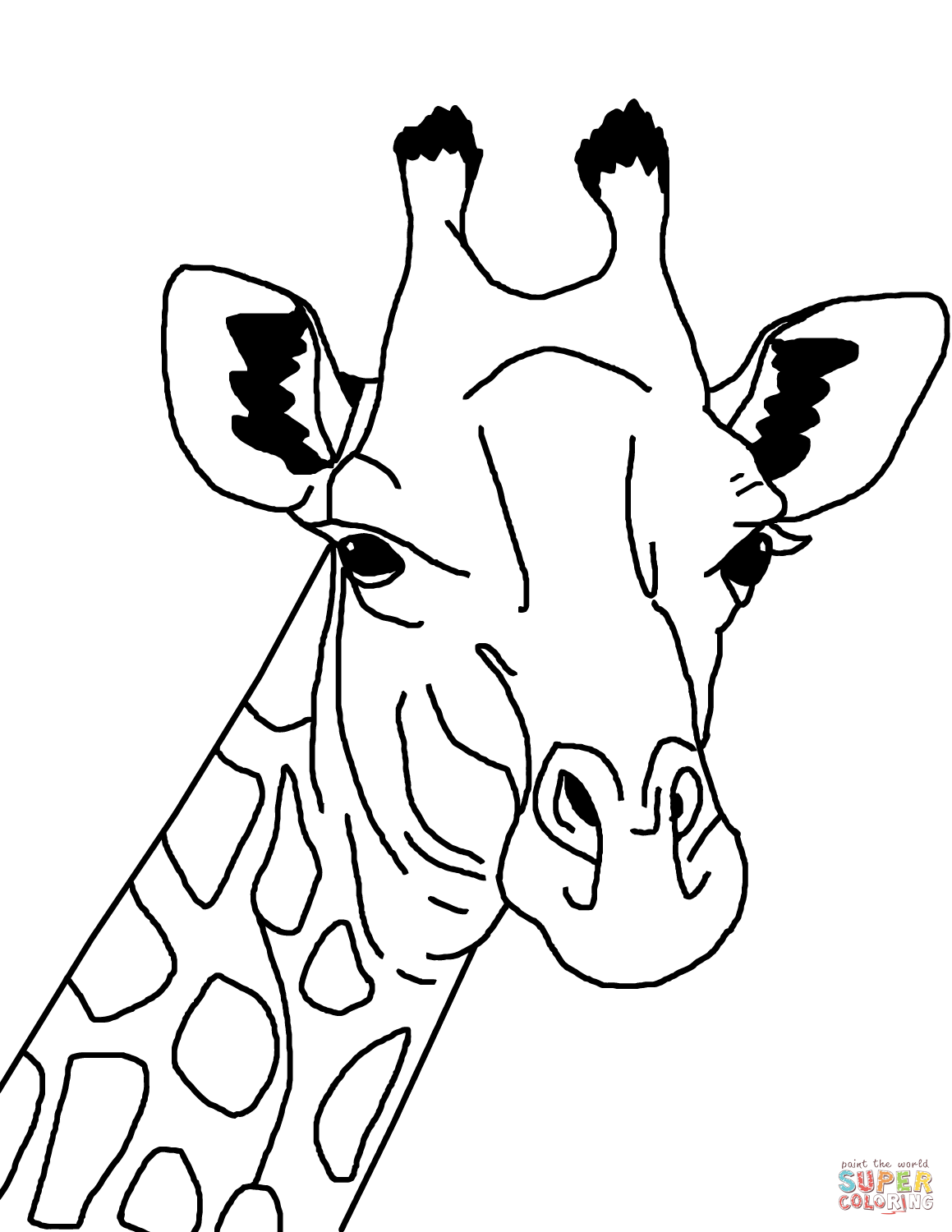 giraffe face coloring pages 17 best images about kid stuff on pinterest digital pages giraffe face coloring
