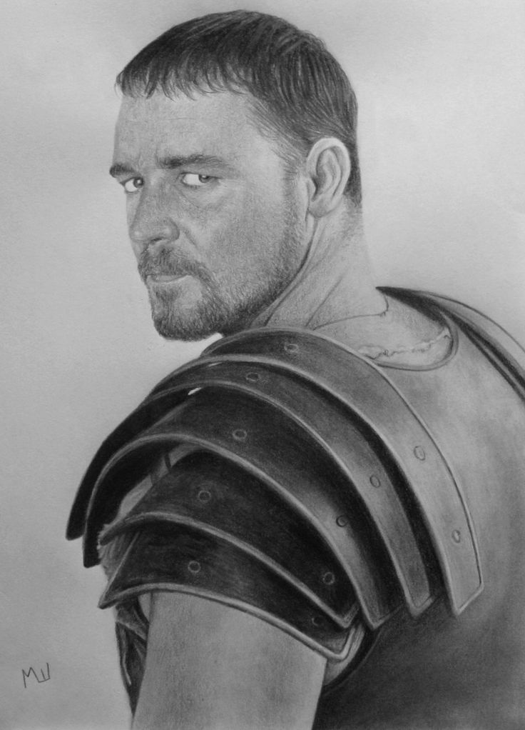 gladiator drawing pencil drawing of russel crowe as maximus pencil drawing gladiator drawing