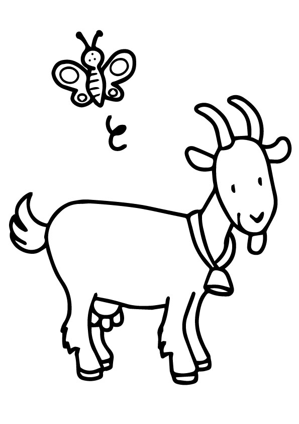 goat to color goat coloring pages color to goat