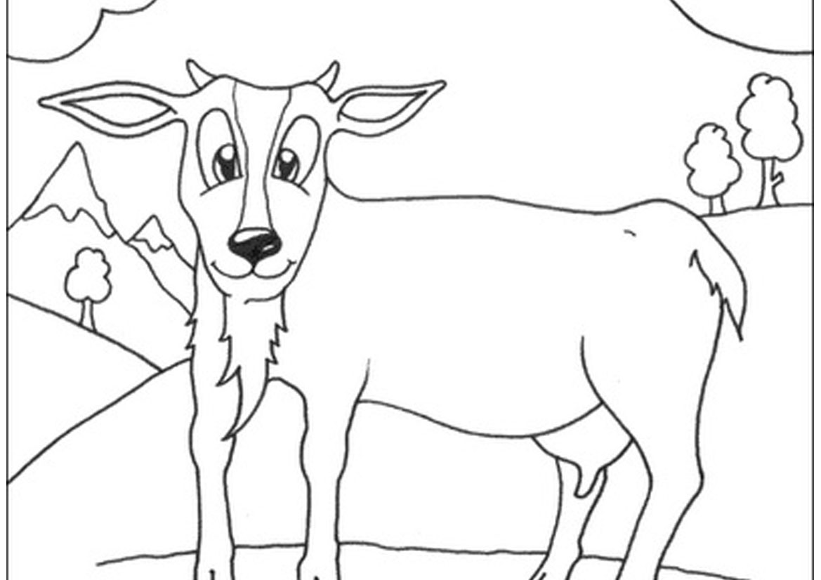 goat to color goat coloring pages coloring pages to download and print goat to color