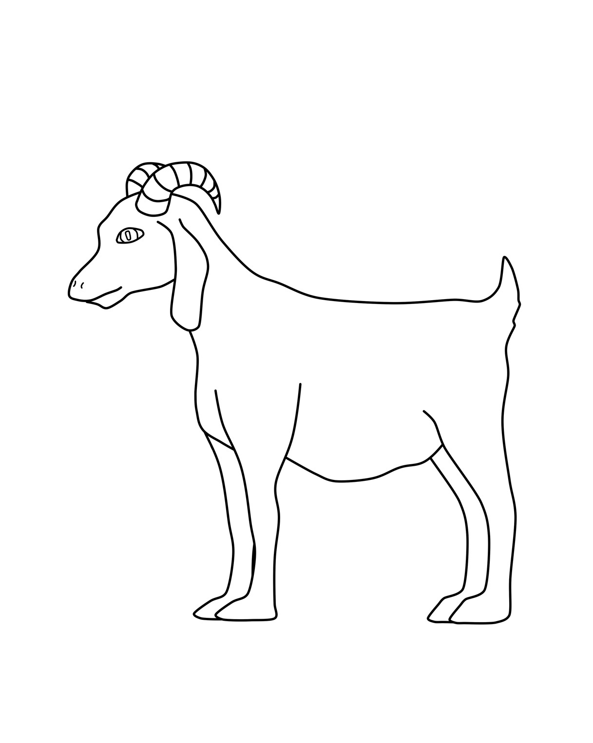 goat to color goat coloring pages goat to color