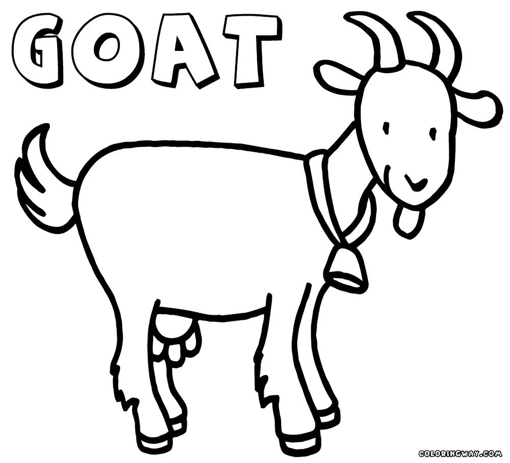 goat to color top 25 free printable goat coloring pages online color to goat