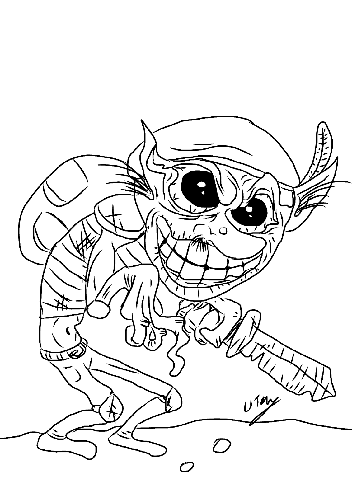goblin pictures to color goblin coloring pages at getcoloringscom free printable goblin pictures to color