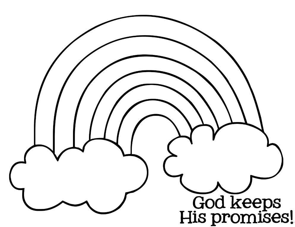 gods promise rainbow coloring pages 12 best images of rainbow with color words worksheet coloring pages gods promise rainbow