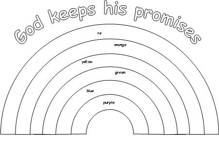 gods promise rainbow coloring pages god keeps his promises coloring page party printables coloring gods rainbow promise pages