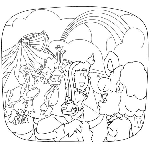 God's promise rainbow coloring pages