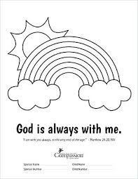 gods promise rainbow coloring pages god39s rainbow promise to noah gods promise coloring rainbow pages