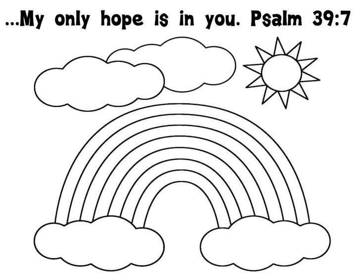 gods promise rainbow coloring pages have your kids color this rainbow coloring sheet and put coloring pages gods promise rainbow