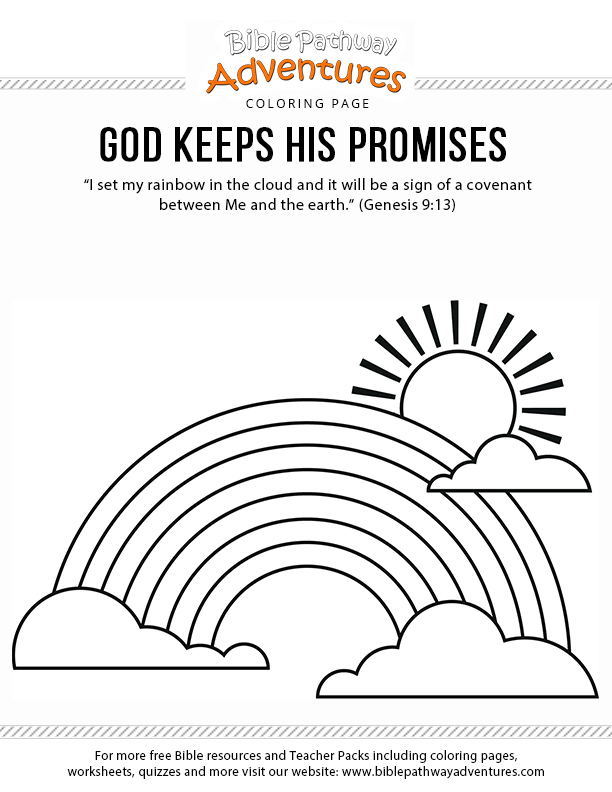 gods promise rainbow coloring pages noah39s ark coloring page god keeps his promises sunday gods coloring pages promise rainbow