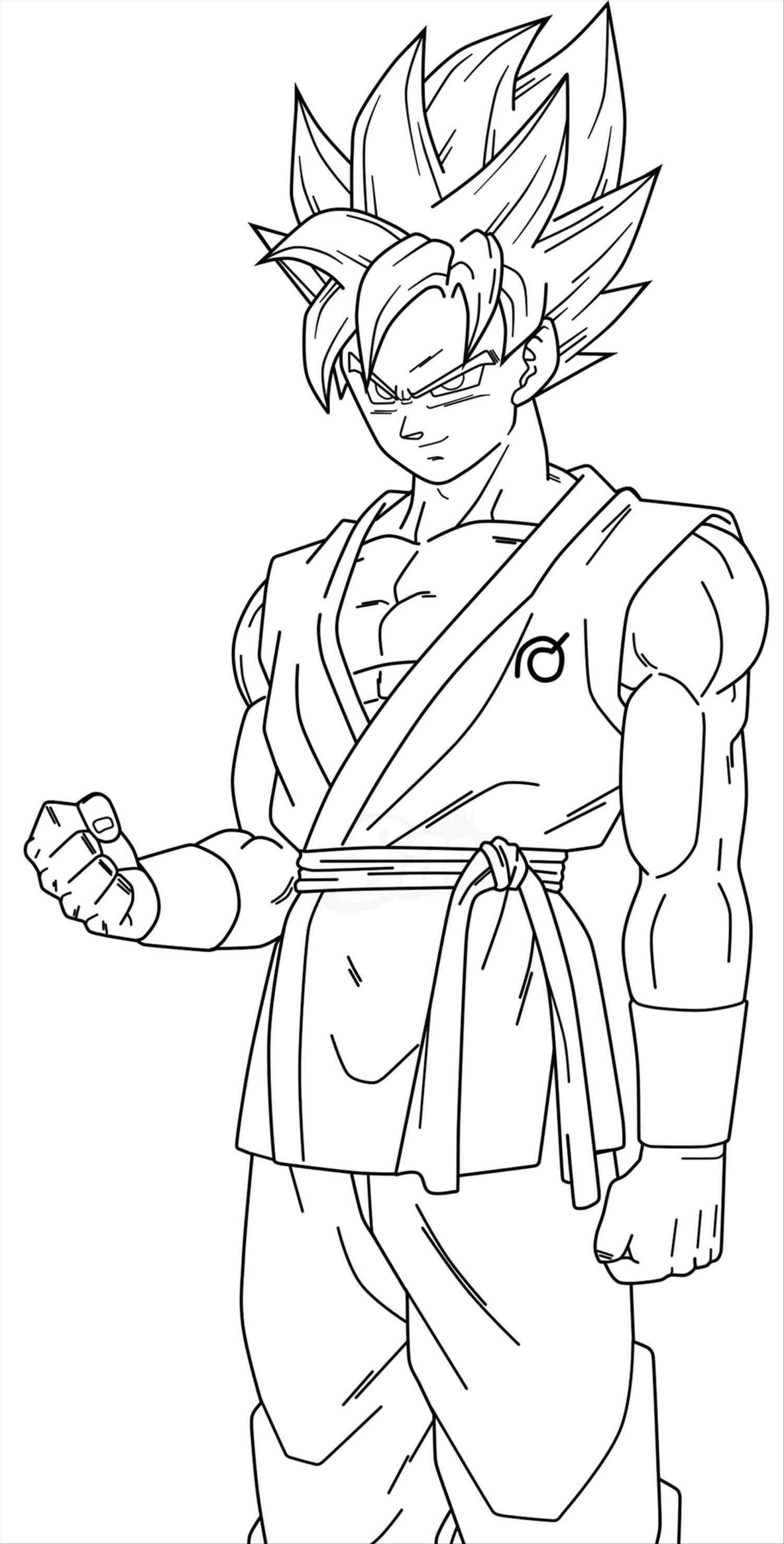 Goku super saiyan coloring pages