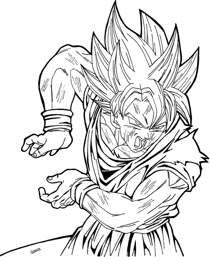 goku super saiyan coloring pages goku super saiyan 3 coloring pages coloring home saiyan super goku coloring pages
