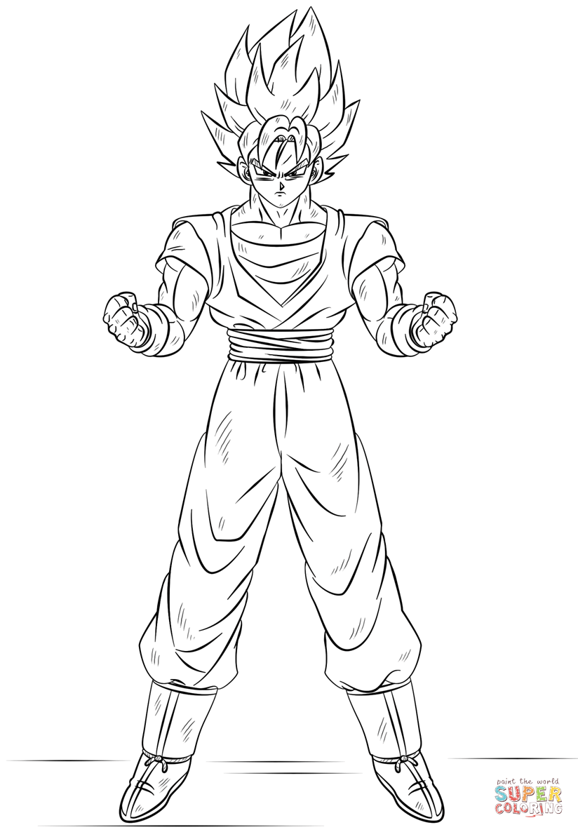 goku super saiyan coloring pages goku super saiyan coloring pages coloring home saiyan goku pages coloring super