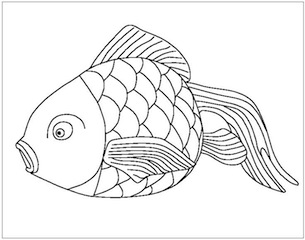 goldfish drawings how to draw a gold fish drawings goldfish