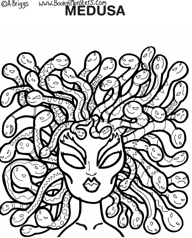 greek coloring pages book of monsters coloring page for kids medusa greek pages coloring greek