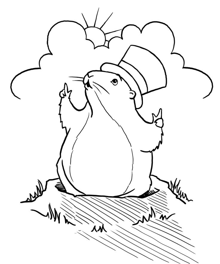 groundhog coloring page groundhog day coloring pages for kids free 16 coloring page coloring groundhog
