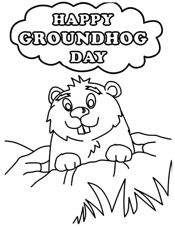 groundhog coloring page groundhog day coloring pages for kids free 3 coloring coloring page groundhog