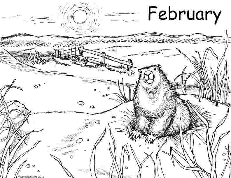 groundhog coloring page happy groundhog day coloring page groundhog day happy page coloring groundhog