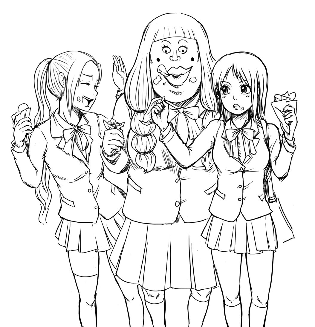 group of girls coloring pages anime girls group coloring page coloring home group girls pages of coloring