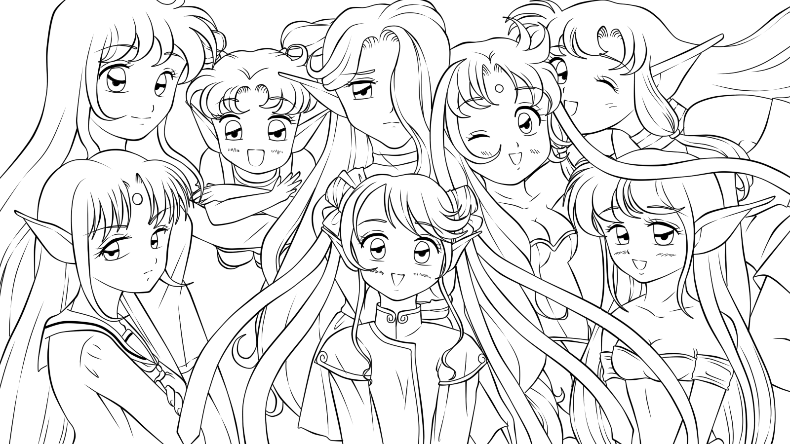 group of girls coloring pages cute best friend coloring pages at getcoloringscom free girls coloring pages group of